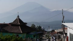 Village and mountains,Bandungan,Java,Indonesia Stock Footage