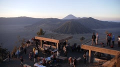 Stock Video Footage of Tourists waiting for sunrise,Bromo,Java,Indonesia