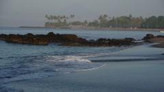 Waves at beach,Senggigi,Lombok,Indonesia Stock Footage