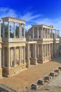 Roman theatre, Merida, Extremadura, Spain Stock Photos