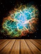 Space galaxy nature background. Elements of this image furnished by NASA Stock Illustration