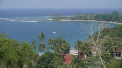 Bay from above,Senggigi,Lombok,Indonesia Stock Footage