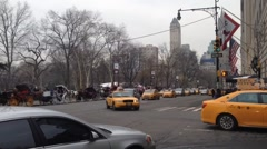 Timelapes of traffic in Manhattan Stock Footage