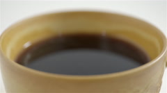 Steaming cup of coffee. 4K UHD Stock Footage
