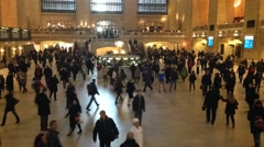 Timelapes of people in New York Central Station Stock Footage