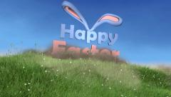 Happy Easter 3D animation - stock after effects