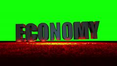 Economy Meltdown (Green Screen) Stock Footage