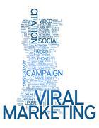 Word Cloud Viral Marketing - stock illustration
