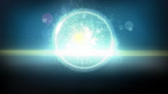 Dark Futuristic Orb Particles in Looping Background - stock footage