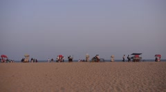 Beach stalls on beach,Mahabalipuram,India Stock Footage