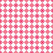 Heart shape vector seamless pattern. Pink color Stock Illustration