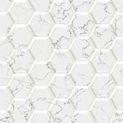 Marble hexagon seamless texture optimal use for background, floor, decorative Stock Illustration