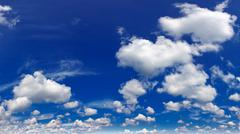wonderful cumulus clouds in sky - stock photo