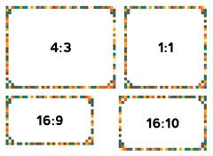 Stock Illustration of 4 pixel borders in vintage colors for different resolutions
