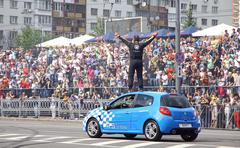 Red Bull Champions Parade on the streets of Kyiv Stock Photos