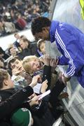 Betao of Dynamo Kyiv gives autographs Stock Photos