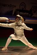Sabre fencer Olga Kharlan of Ukraine - stock photo