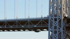 George Washington Bridge GWB - stock footage