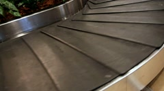 Luggage on the conveyor in the airport Stock Footage