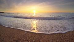 Beautiful seascape on the sunset. Stock Footage