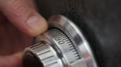 Emergency opening the safe. Stock Footage