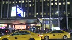Madison Square Garden at Night. Stock Footage