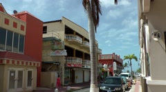 Aruba Oranjestad 001 typical street view near harbor Stock Footage