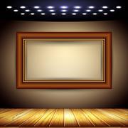Interior with baguette frame Stock Illustration