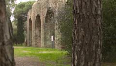 Roman Aqueduct, FREJUS, FRANCE- CIRCA MARCH, 2015 Stock Footage