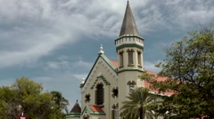 Aruba Oranjestad 032 St. Fransiscus Catholic Church - stock footage