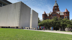 Kennedy Memorial Downtown Dallas Stock Footage