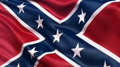 Confederate Battle Flag - stock photo