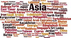Stock Illustration of Countries in Asia word cloud