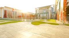 The Bundeskanzleramt (Kanzleramt) with Sunlight in Full HD - stock footage