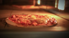 Pizza baking in traditional oven. Close up. HD. 1920x1080 Stock Footage
