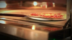 Ready pizza getting from oven and close Oven. HD. 1920x1080 Stock Footage