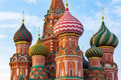 Saint Basil's Cathedral in Moscow, Russia - stock photo