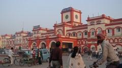 Railway staition,Gorakhpur,India Stock Footage