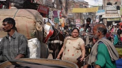 Busy street,Lucknow,India Stock Footage