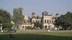 Park and building,Lucknow,India Stock Footage