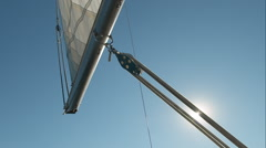 Stock Video Footage of Sailboat rigging and sails