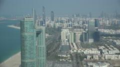 Skyline of Abu Dhabi, capital city of the United Arab Emirates Stock Footage