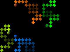 Snake, retro style game pixelated graphics - stock illustration