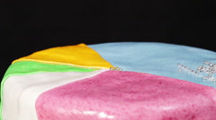 Multi-colored cake Stock Footage