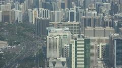 Office towers and traffic in Abu Dhabi Stock Footage