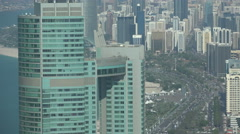 Abu Dhabi office towers, skyline, traffic, rush hour, business district Stock Footage
