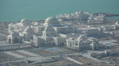 Abu Dhabi, Presidential Palace complex, partially under construction Stock Footage