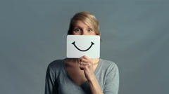 Woman showing her Emotions Stock Footage