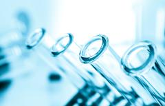 Test tubes close-up.medical glassware.. Stock Photos