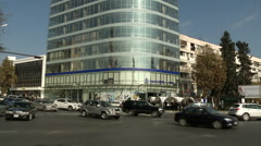 The building of an oil company in Baku Stock Footage